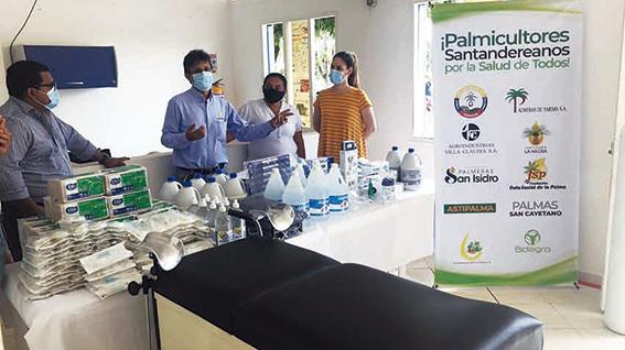Fedepalma y sector palmero de Santander donan insumos y elementos de bioseguridad a hospitales de la región